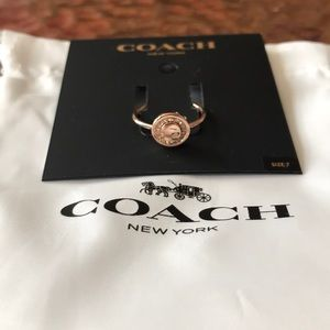 COACH Rose gold ring. Size 7. New with tags.